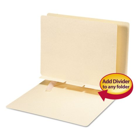 Smead Self-Adhesive Folder Dividers with Prepunched Slits, Letter, 100ct.