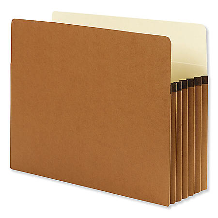 "Smead 5 1/4"" Accordion Expansion File Pocket, Straight Tab, Letter, Redrope, 10ct."