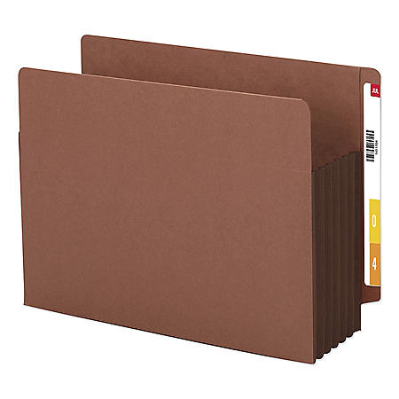 "Smead 5 1/4"" Accordion Expansion File Pockets, Straight Tab, Letter, Brown, 10ct."