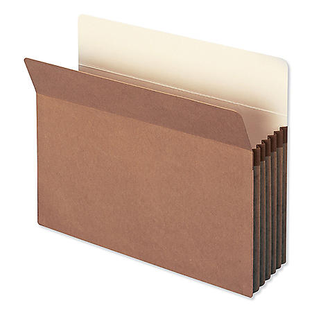"Smead 5 1/4"" Accordion Expansion File Pocket, Straight Tab, Letter, Redrope, 50ct."