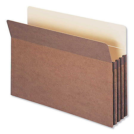 "Smead 3 1/2"" Accordion Expansion File Pocket, Straight Tab, Legal, Redrope,  25ct."