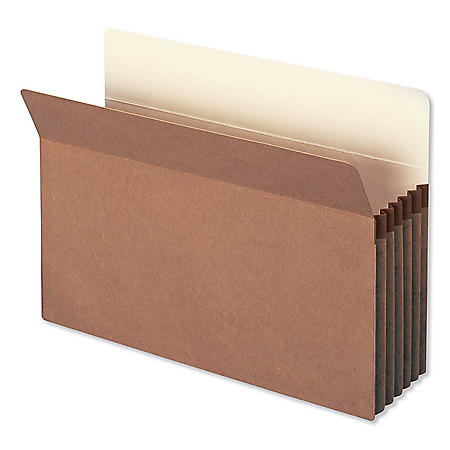 "Smead 5 1/4"" Accordion Expansion File Pocket, Straight Tab, Legal, Redrope, 10ct."