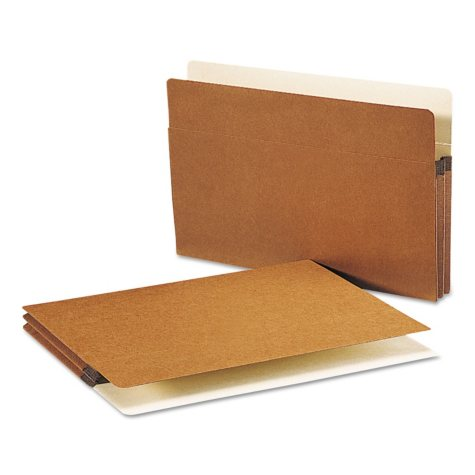 """Smead 1 3/4"""" Expansion File Pocket, Straight Tab, Legal, Redrope, 50ct."""