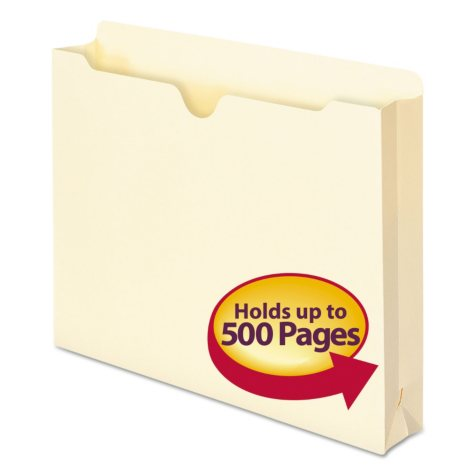 "Smead 2"" Accordion Expansion File Jackets, Letter, Manila, 50ct."