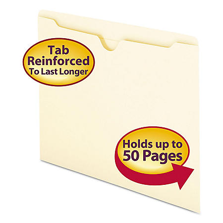 Smead Double-Ply File Jackets, Manila (Letter, 100ct.)