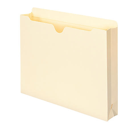 """Smead Straight Tab 2"""" Expansion Reinforced File Jacket, Manila (Letter, 40ct.)"""