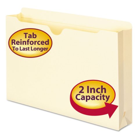 "Smead 2"" Expansion File Jackets, Manila (Legal, 50ct.)"