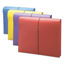 "Smead® 2"" Exp Antimicrobial File Wallet, Letter, Four Colors, 4pk."