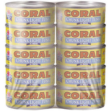 Coral Chunk Light Tuna in Water - 10/5oz