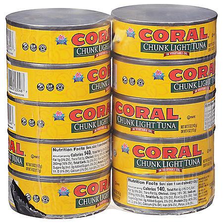 Coral Chunk Light Tuna in Oil (5 oz., 10 pk.)