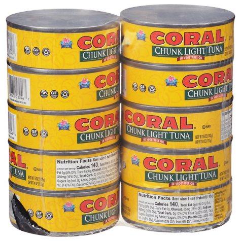Coral Chunk Light Tuna in Oil - 10/5oz