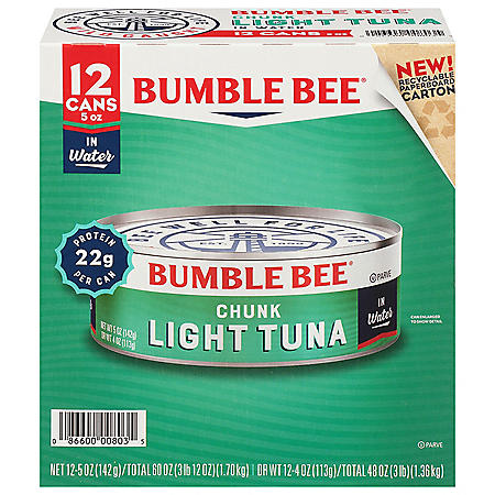 Bumble Bee Chunk Light Tuna in Water (5 oz., 12 ct.)