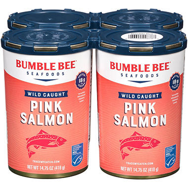 Bumble Bee Wild Alaska Pink Salmon (14.75 oz., 4 ct.)