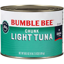 Bumble Bee Chunk Light Tuna in Water - 66.5 oz.