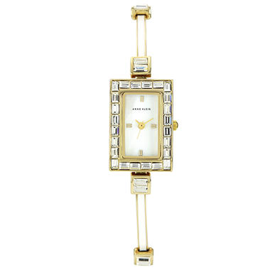 Anne Klein Ladies Mother of Pearl Bangle Watch
