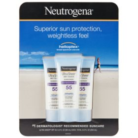 Neutrogena Ultra Sheer Dry Touch Sunscreen, SPF 55 (3.0 fl. oz., 3 pk.)