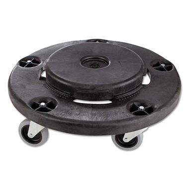 Rubbermaid Commercial - Brute Round Twist On/Off Dolly, 250lb Capacity, 18