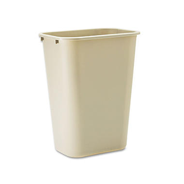 Rubbermaid Soft Molded Trash Can - Beige - 10.25 gal.