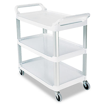 Rubbermaid Xtra Utility Cart, Open Sided - Off White