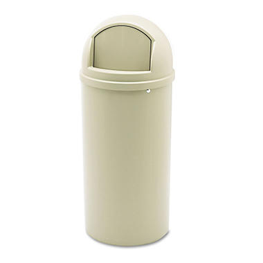 Rubbermaid Marshal Classic Trash Can, Beige (15gal.)