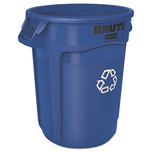 Rubbermaid Brute Recycling Container, Blue (32gal.)
