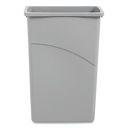 Boardwalk Slim Jim Waste Container, Plastic - Gray (23 gal.)