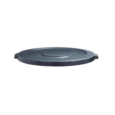 Boardwalk Lids for 44-Gal. Waste Receptacles, Flat-Top, Round, Plastic - Gray