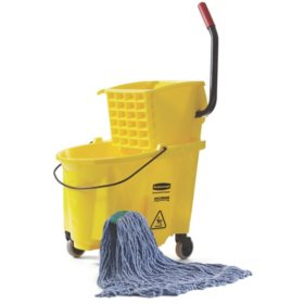 Rubbermaid WaveBrake Bucket & Wringer (Choose Your Size)