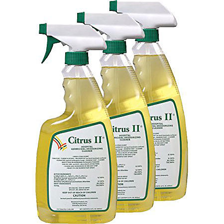 Citrus II Hospital Germicidal Deodorizing Cleaner Spray, Citrus (22 oz., 3 pk.)