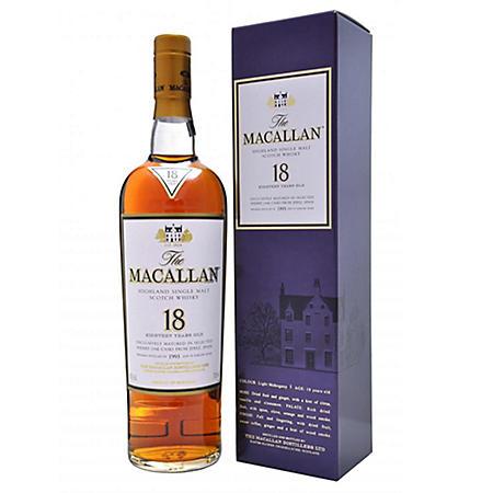 +THE MACALLAN 750ML 18 YR OLD SCOTCH