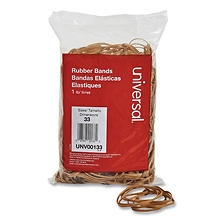 "Universal Rubber Bands, Size 33, 3-1/2"" x 1/8"", 640ct./1lb Pack"