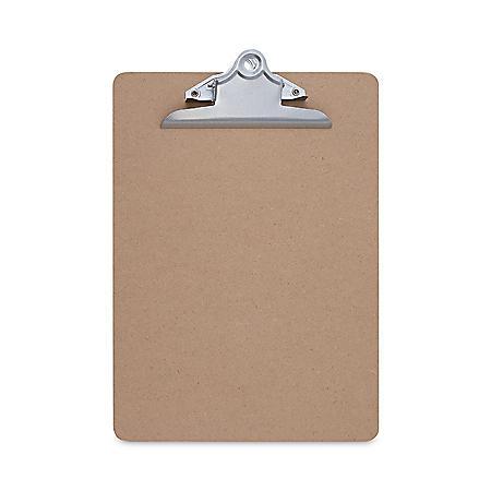 "Universal Hardboard Clipboard, 1"" Capacity, Brown, 3/Pack (Various Sizes)"