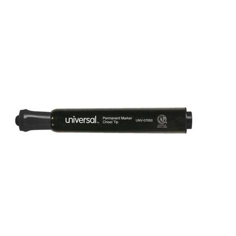 Universal® Permanent Marker, Chisel Tip, Black, 36/Pack
