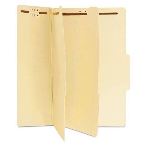 Universal® Manila Classification Folders, Legal, Six-Section, 15/Box