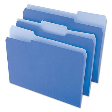 Universal File Folders, 1/3 Cut One-Ply Top Tab, Letter, 100/Box (Various Colors)