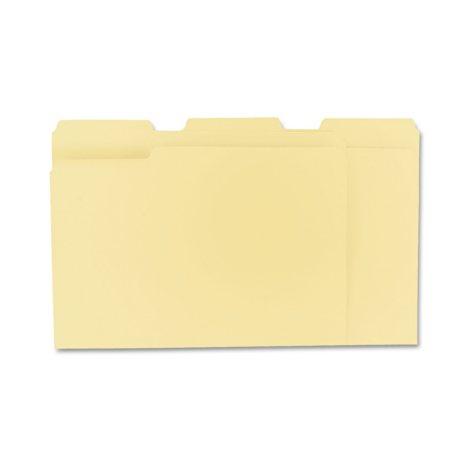 Universal 1/3 Assorted Cut File Folders, Top Tab, Letter, Manila, 100ct.