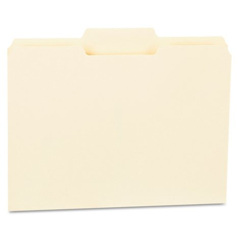 Universal File Folders, 1/3 Cut Second Position, One-Ply Top Tab, Manila, 100/Box (Various Types)