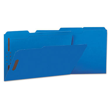 Universal Deluxe Reinforced Top Tab Folders, 2 Fasteners, 1/3 Tab, Legal, 50/Box (Various Colors)