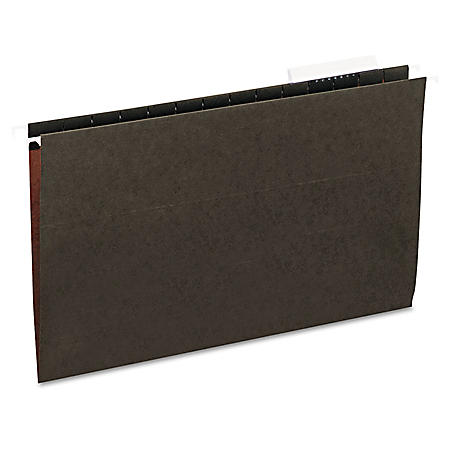 Universal 1/3 Tab Hanging File Folders, 11 Point Stock, Legal, Standard Green, 25ct.