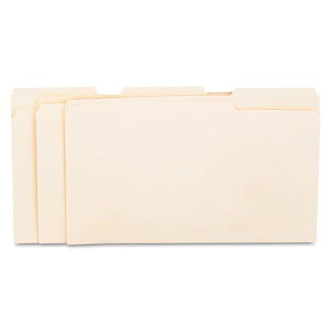 Universal 1/3 Assorted Cut File Folders, Top Tab, Legal, Manila, 100ct.