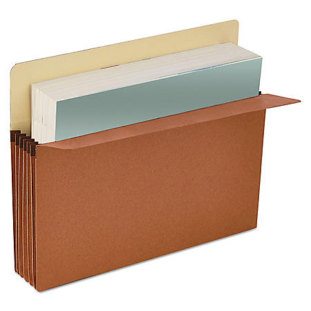 "Universal 3 1/2"" Expansion File Pockets, Straight Tab, Redrope/Manila, 25/Box (Various Types)"