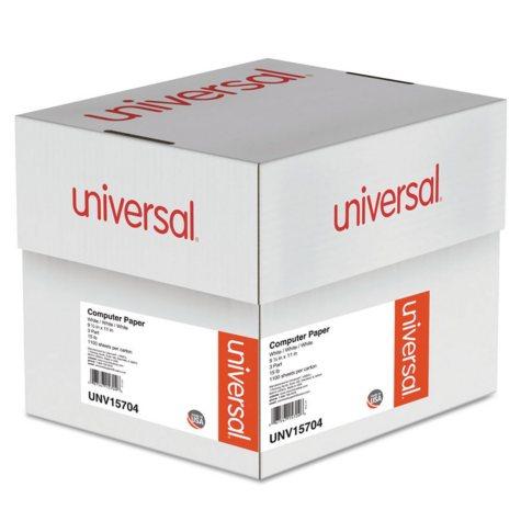 "Universal® Computer Paper, 3-Part Carbonless, 15lb, 9-1/2"" x 11"", White, 1100 Sheets"