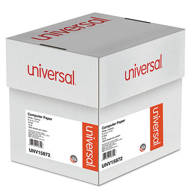 Universal® Multicolor Computer Paper, 2-Part Carbonless, 15lb, 9-1/2