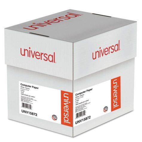 """Universal® Multicolor Computer Paper, 2-Part Carbonless, 15lb, 9-1/2"""" x 11"""", 1800 Sheets"""