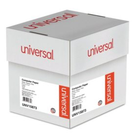 "Universal® Multicolor Computer Paper, 3-Part Carbonless, 15lb, 9-1/2"" x 11"", 1200 Sheets"