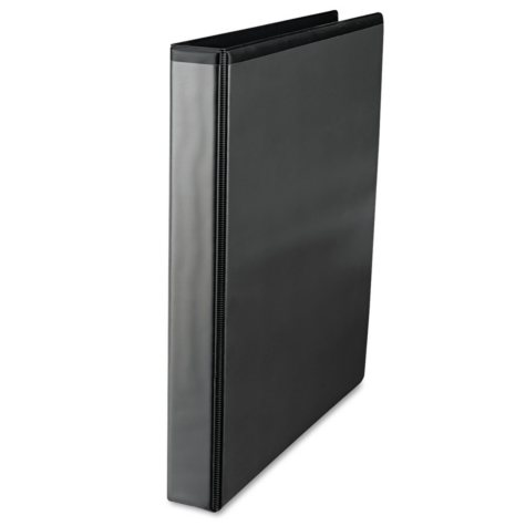 Universal Slant-Ring Economy View Binder, Black (Various Sizes)