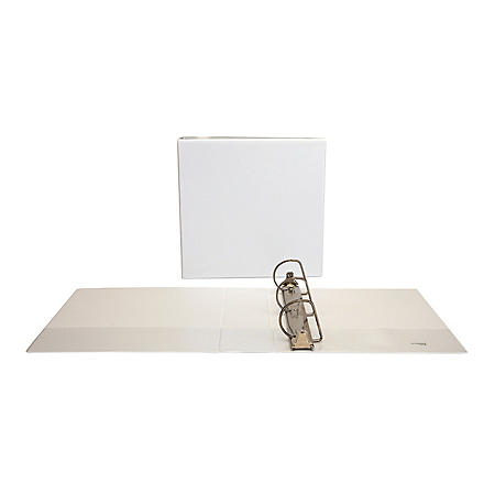 Universal Slant-Ring Economy View Binder, White (Various Sizes)