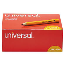 Universal® Golf & Pew Pencil, HB, Yellow Barrel, 144ct.