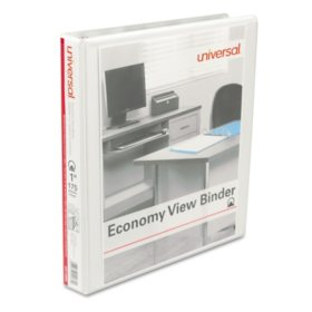 "Universal Round Ring Economy View Binder, 1"" Capacity, 12ct., Choose a Color"