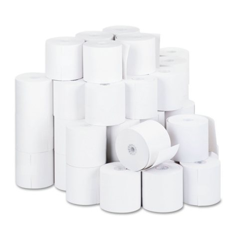 """Universal® 1-Ply Cash Register/Point of Sale Roll, 16 lb., 1/2"""" Core, 2-3/4"""" x 190 ft., 50/Ct"""